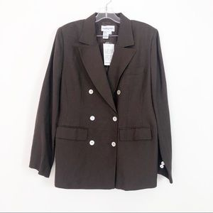 BLOOMINGDALES New with tags brown blazer size 12